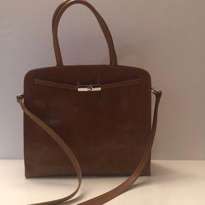 Vintage Furla honey brown leather handbag